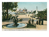 Pier and Pavilion, Nice, France Prints