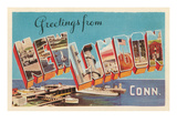 Greetings from New London, Connecticut Posters