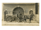 Vintage Horse-Drawn Fire Wagon Posters