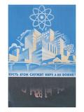 Soviet Nuclear Power Poster Giclee-tryk i høj kvalitet