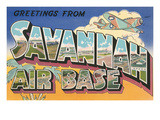 Greetings from Savannah Air Base, Georgia Print