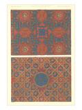 Two Mosaic Tile Patterns Print