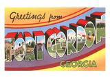 Greetings from Ft. Gordon, Georgia Prints