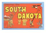Saluti dal South Dakota Stampe
