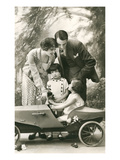 Family with Soap Box Racer Print