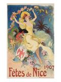 Poster for Nice Gala, 1907 Prints