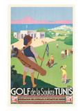 Golfing in Tunisia Prints