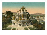 Russian Cathedral, Nice, France Prints