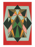 Geometric Stained Glass Pattern Prints