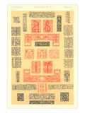 Italian Border Patterns Poster