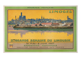 Ad for Limoges Fair, France Poster