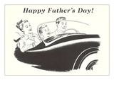 Happy Father's Day, Family in Sports Car Prints