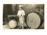Child Percussionist Posters