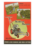 Modern Lawn Mower Advertisement Print