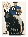 Horseback Rider Advertising Shoe Polish Prints