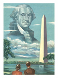 George Washington and His Monument Prints