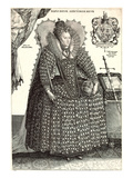 Queen Elizabeth I in Uncomfortable Gown Prints
