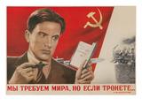 Soviet Propaganda Poster Umělecké plakáty