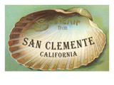 Souvenir from San Clemente, California Print