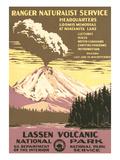 Lassen Volcanic National Park Travel Poster Posters