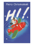 Merry Chrisnukkah, Puppy in Plane Posters