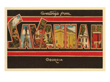 Greetings from Savannah, Georgia Prints
