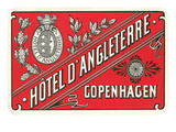 Hotel d'Angleterre Trunk Label Print