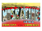 Greetings from Muscatine, Iowa Posters