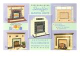 Prefabricated Mantel Advertisement Prints