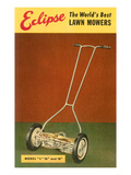 Eclipse Lawn Mower Advertisement Prints