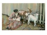 Goat Nursing a Child, Cuba Posters