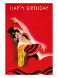 Happy Birthday, Flameno Dancer Prints
