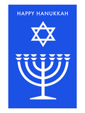 Happy Hanukkah, Menorah, Star of David Prints