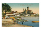 Harbor and Church, St. Raphael, France Poster