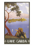 Lake Garda Travel Poster Posters