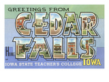 Greetings from Cedar Falls, Iowa Art