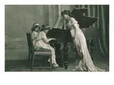Young Girl Music Recital Prints