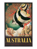 Australia Travel Poster, Great Barrier Reef Prints
