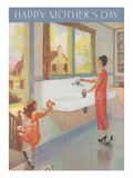 Happy Mother's Day, Woman at Sink Prints