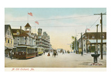 Street Scene, Old Orchard, Maine Prints