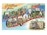 Greetings from North Carolina Posters