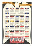 US Army, Navy, Marines and Coast Guard Service Ribbons Kunstdrucke