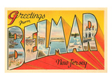 Greetings from Belmar, New Jersey Print
