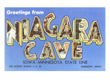 Greetings from Niagara Cave, Harmony, Minnesota Prints