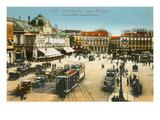 Massena Square, Casino, Nice, France Print