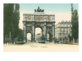 Victory Arch, Munich, Germany Prints