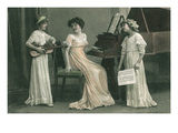 Young Girl Music Recital Prints
