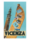 Travel Poster, Vicenza, Italy Print