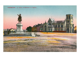 Napoloeon Statue, Cherbourg, France Poster