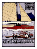Munich Rowing Regatta Poster, Germany Prints
